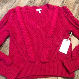 Leith Power Cable Chunky Knit Sweater NWT